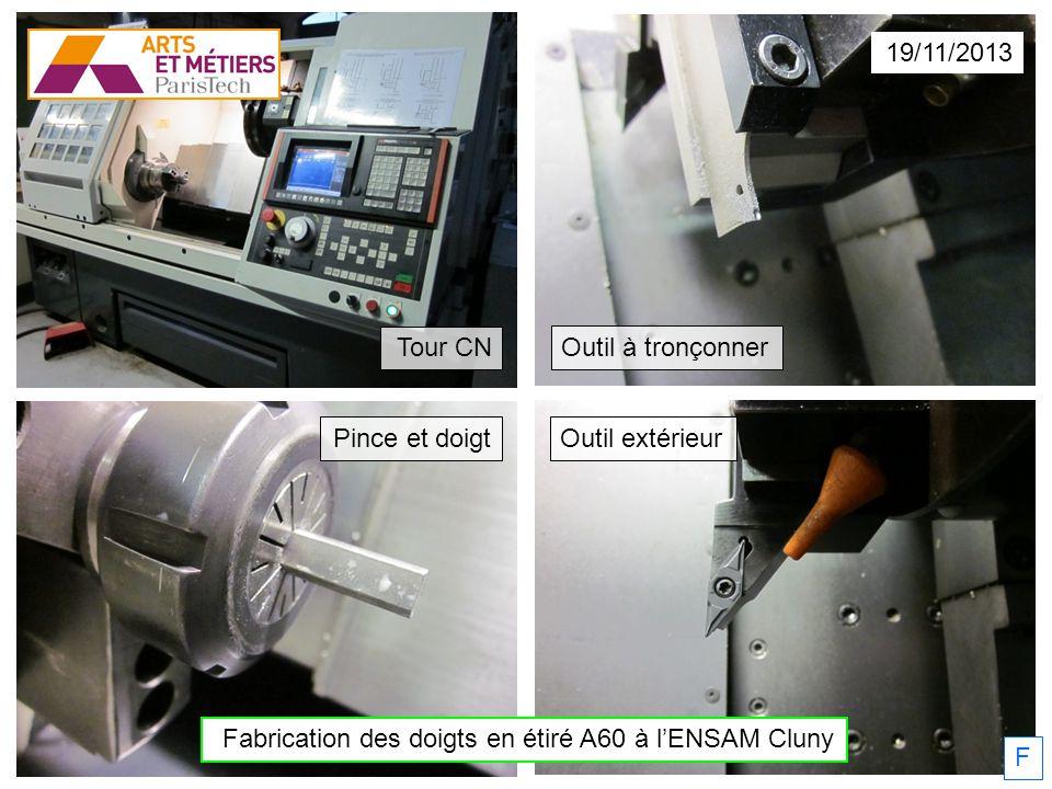 Fabrication des doigts en étiré A60 à l'ENSAM Cluny