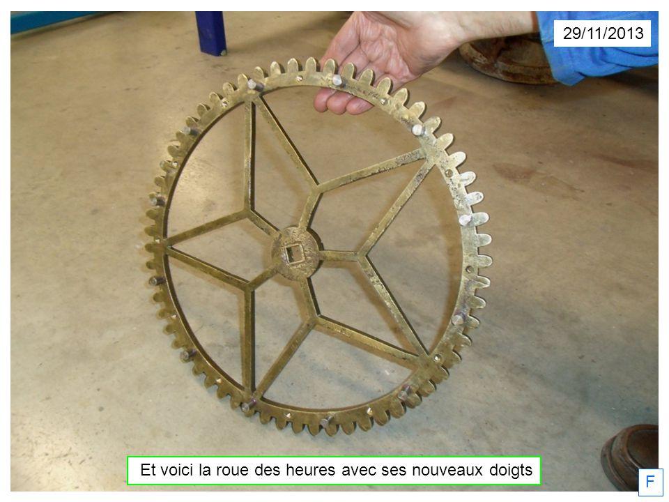 Et voici la roue des heures avec ses nouveaux doigts
