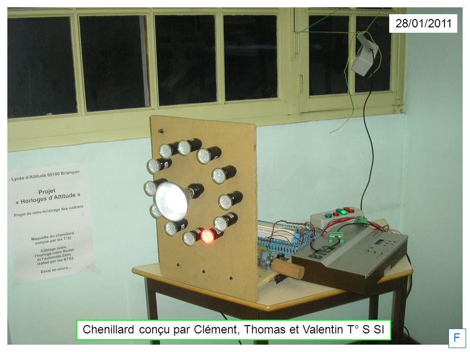 Chenillard conçu par Clément, Thomas et Valentin T° S SI