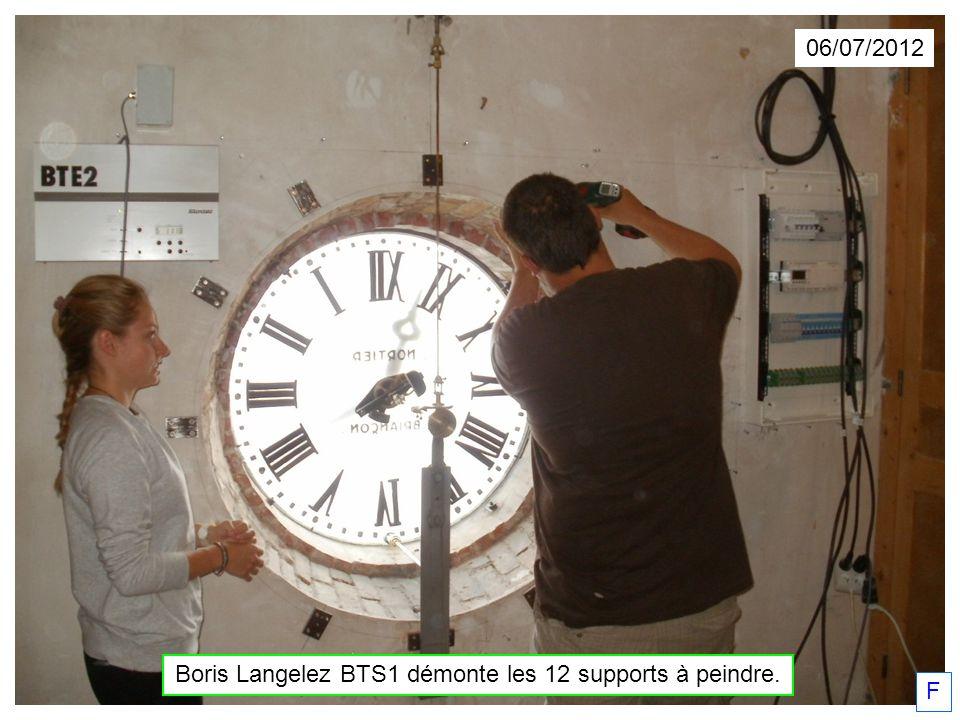 Boris Langelez BTS1 démonte les 12 supports à peindre.