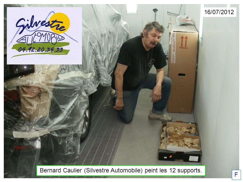 Bernard Caulier (Silvestre Automobile) peint les 12 supports.