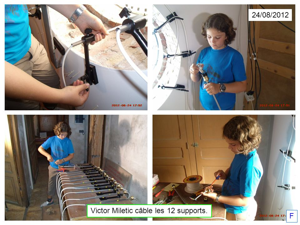 Victor Miletic câble les 12 supports.