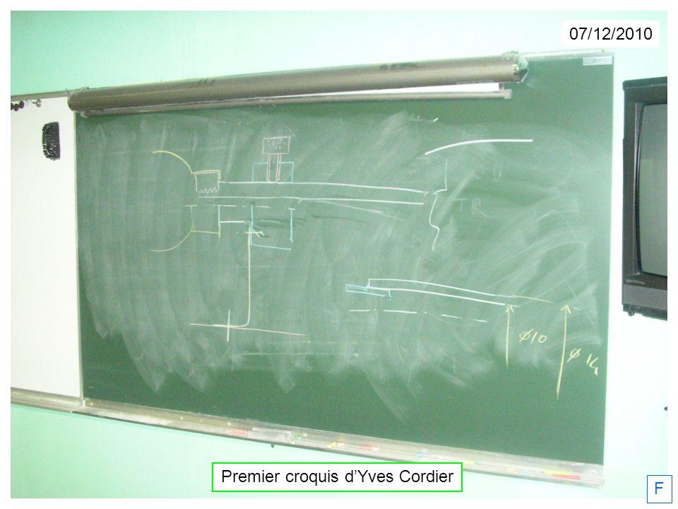 Premier croquis d'Yves Cordier