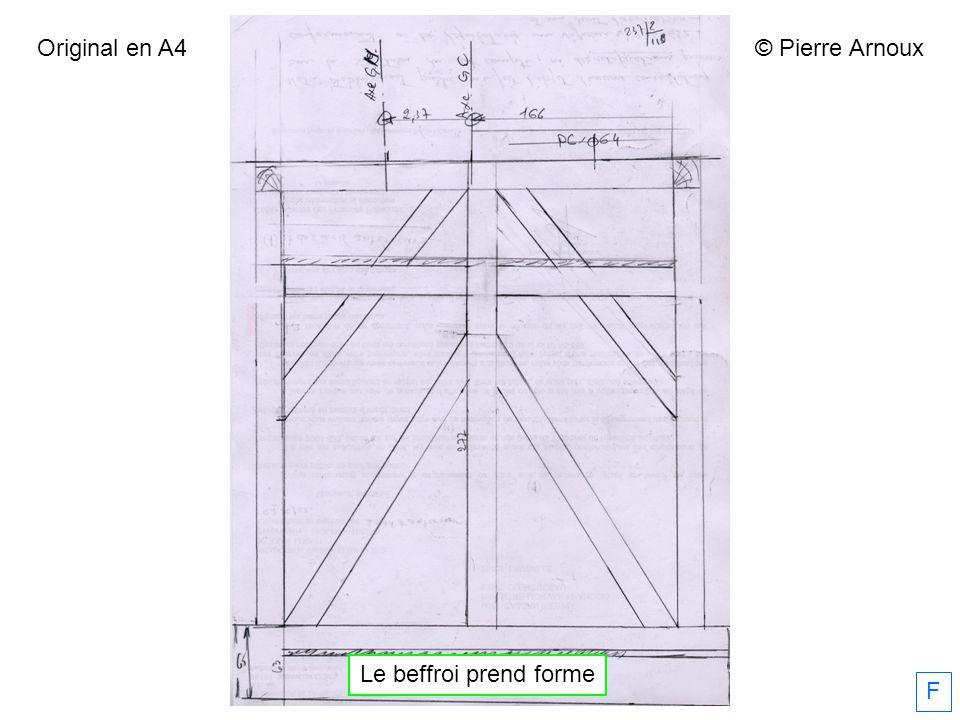 Original en A4 © Pierre Arnoux Le beffroi prend forme F