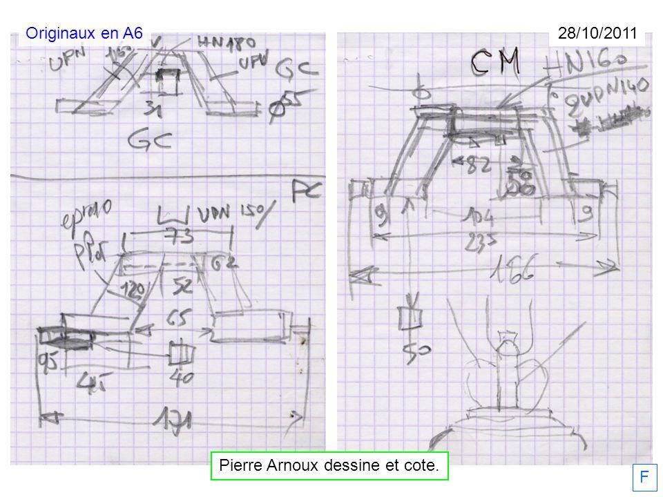 Pierre Arnoux dessine et cote.