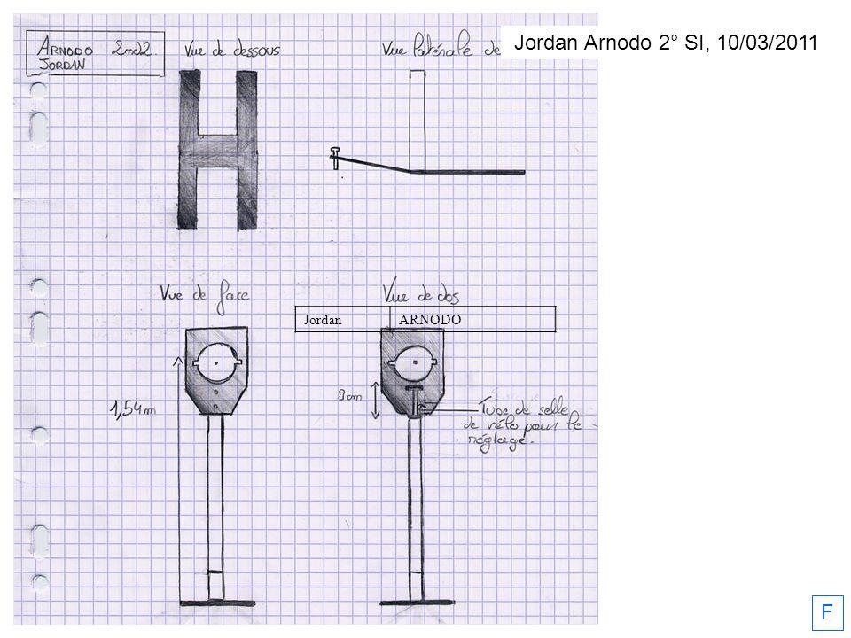 Jordan Arnodo 2° SI, 10/03/2011 Jordan ARNODO F