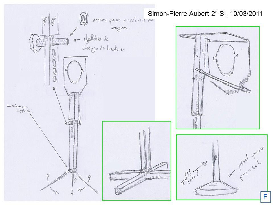 Simon-Pierre Aubert 2° SI, 10/03/2011