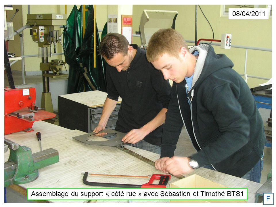Assemblage du support « côté rue » avec Sébastien et Timothé BTS1