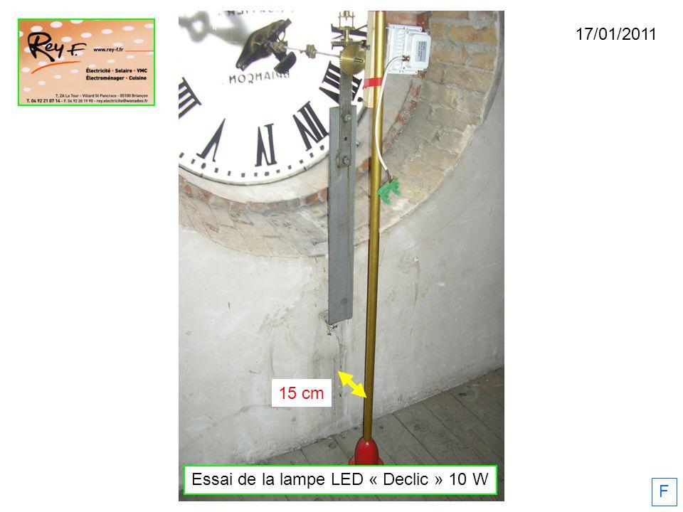 Essai de la lampe LED « Declic » 10 W