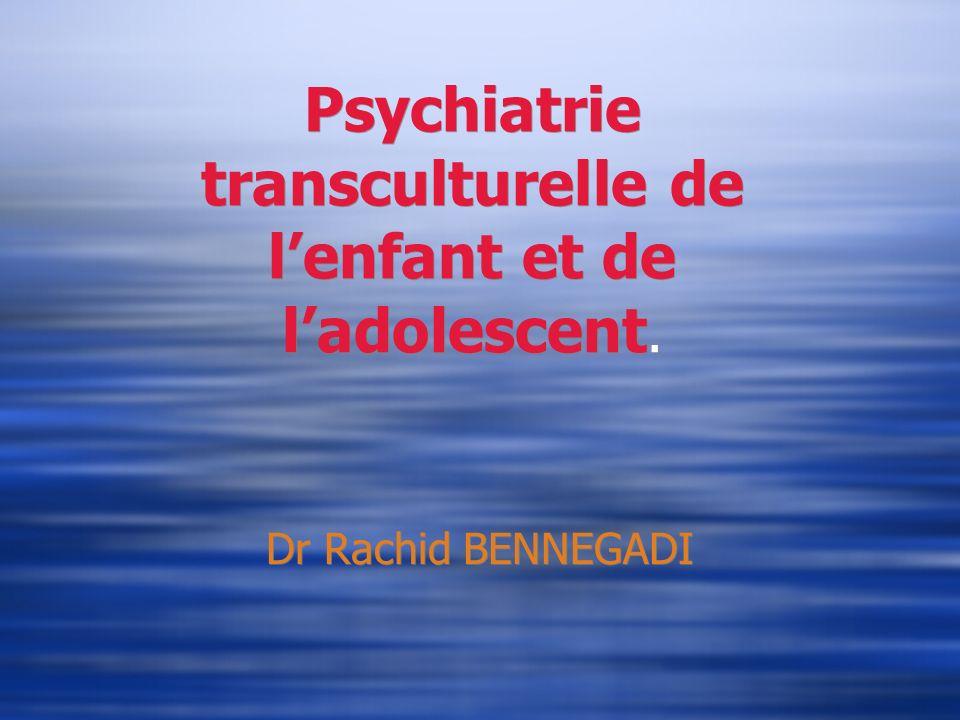 Psychiatrie transculturelle de l'enfant et de l'adolescent.