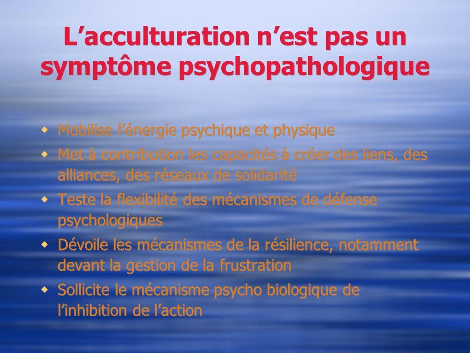 L'acculturation n'est pas un symptôme psychopathologique