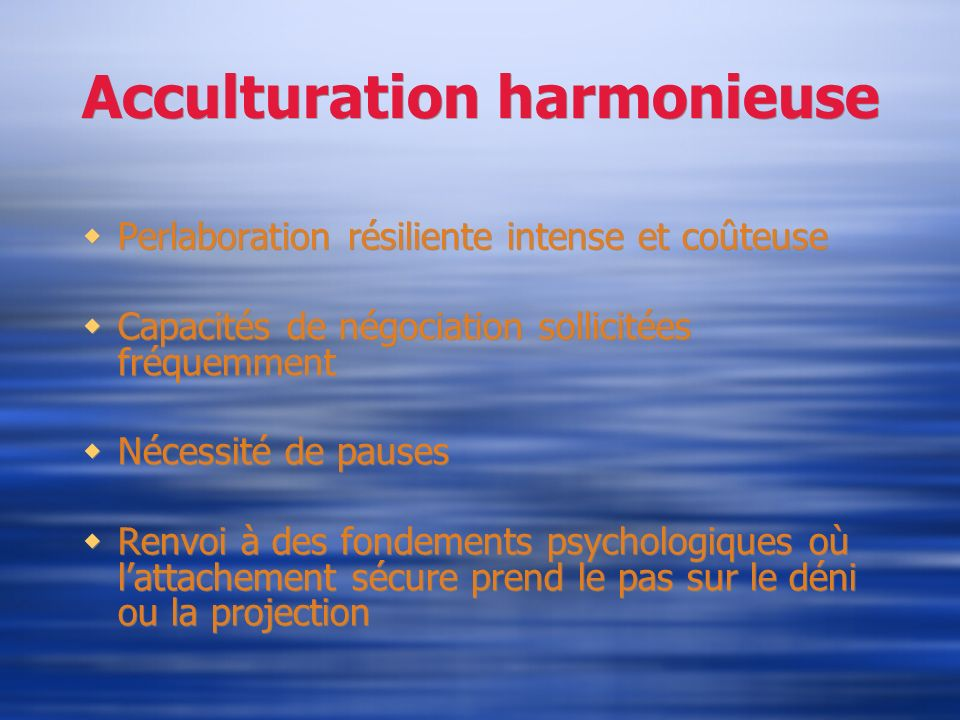Acculturation harmonieuse