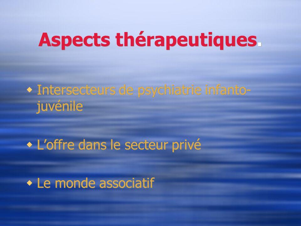 Aspects thérapeutiques.