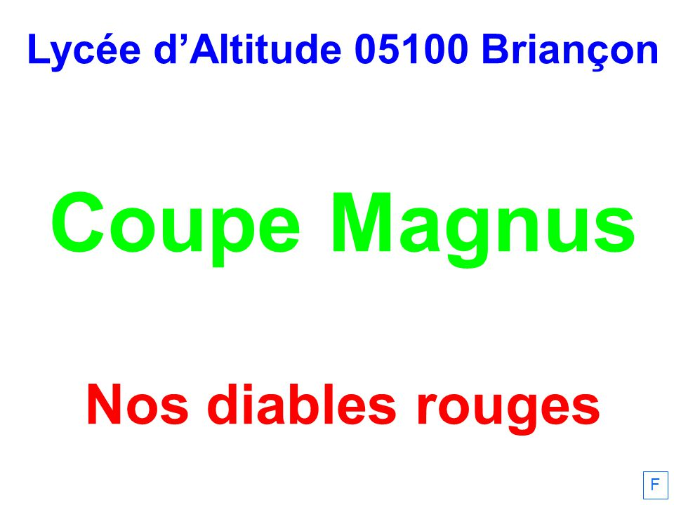 Lycée d'Altitude 05100 Briançon