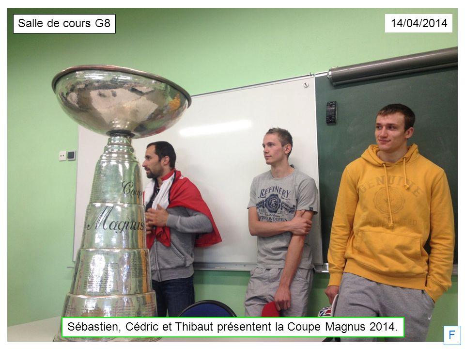 Sébastien, Cédric et Thibaut présentent la Coupe Magnus 2014.