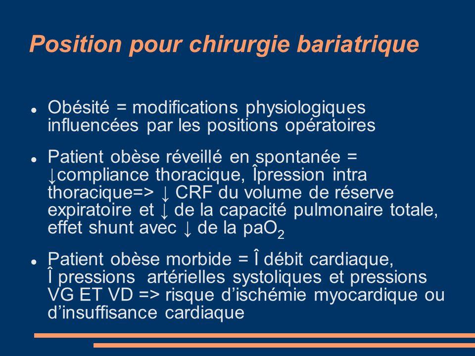 Position pour chirurgie bariatrique