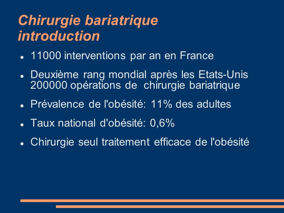 Chirurgie bariatrique introduction