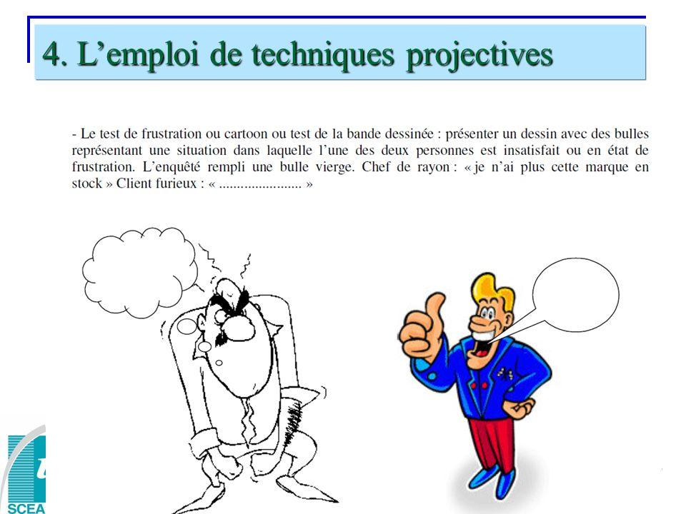 4. L'emploi de techniques projectives