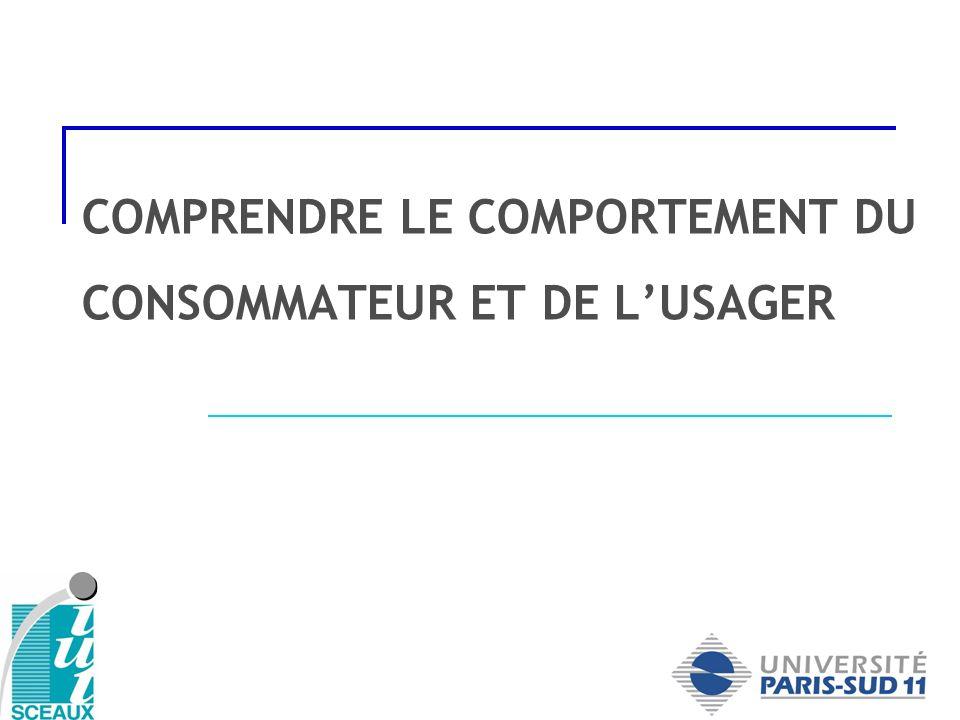 COMPRENDRE LE COMPORTEMENT DU CONSOMMATEUR ET DE L'USAGER