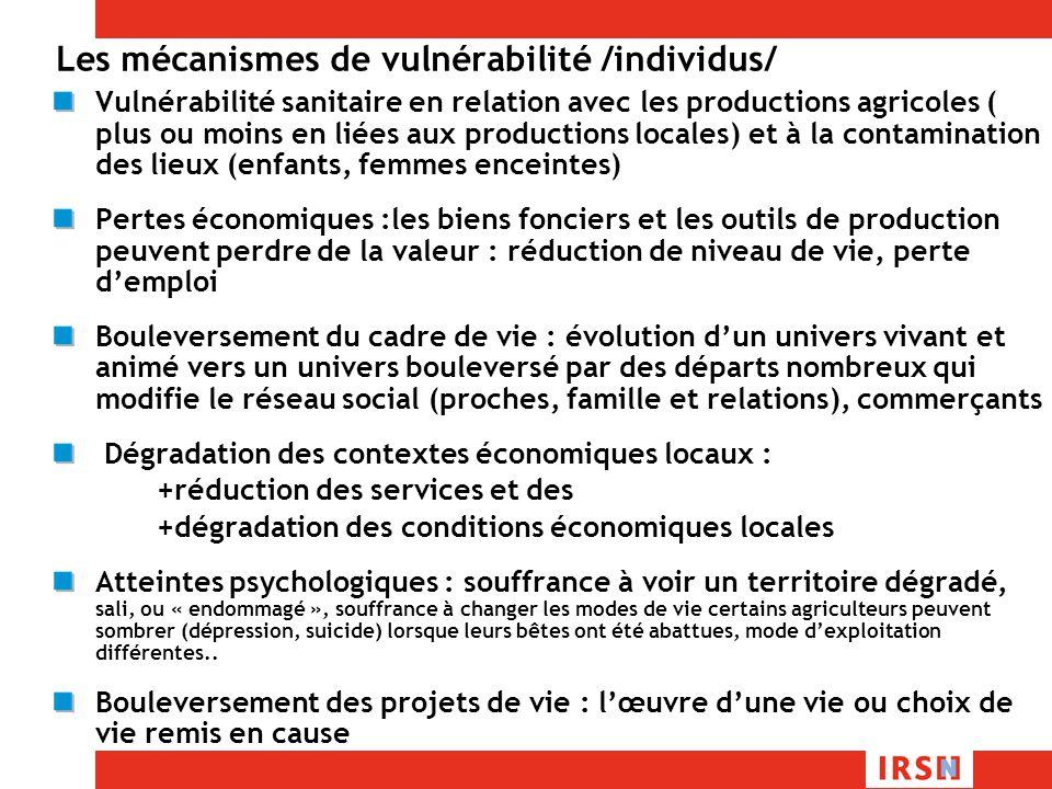 Les mécanismes de vulnérabilité /individus/