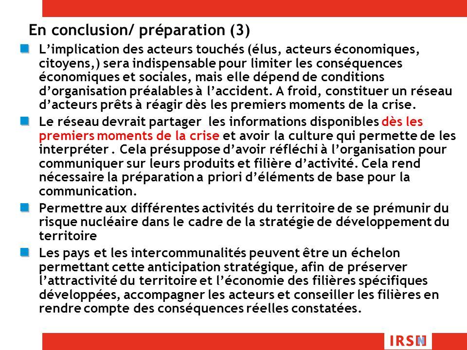 En conclusion/ préparation (3)