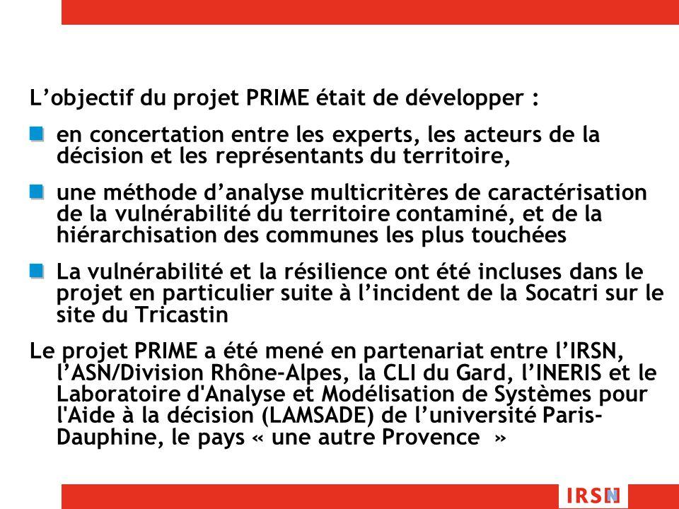 L'objectif du projet PRIME était de développer :