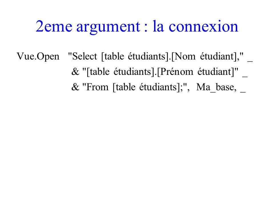 2eme argument : la connexion
