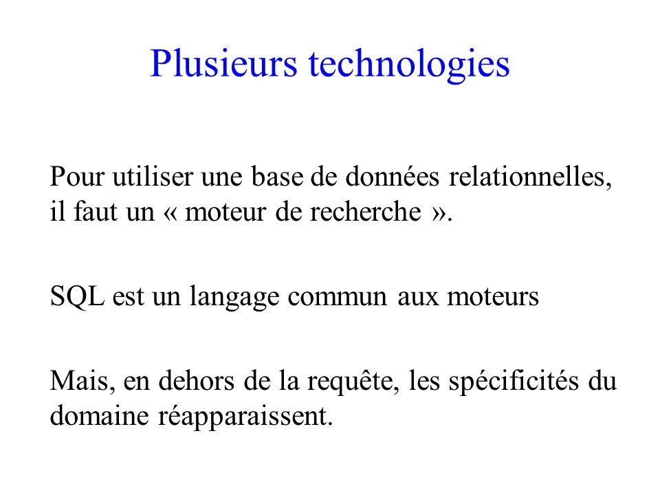 Plusieurs technologies