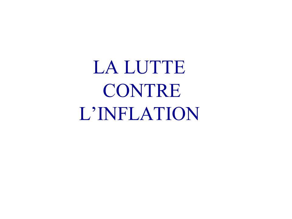 LA LUTTE CONTRE L'INFLATION