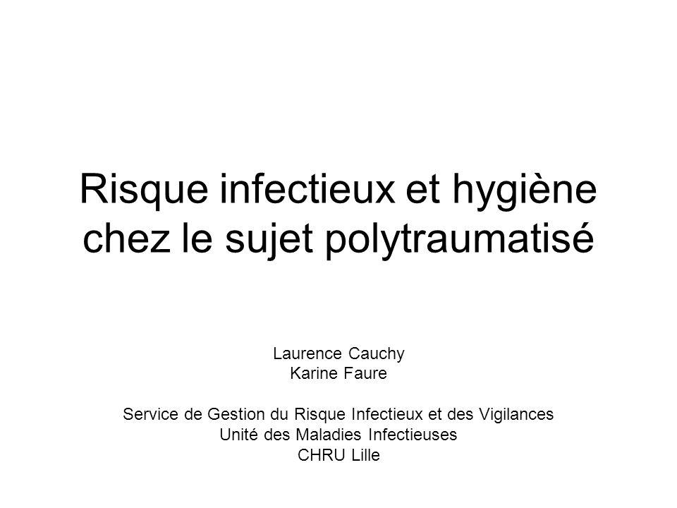Risque infectieux et hygiène chez le sujet polytraumatisé