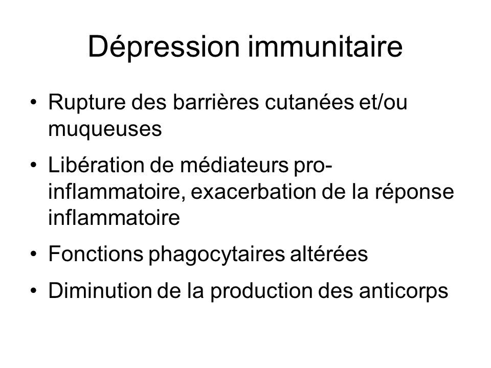 Dépression immunitaire