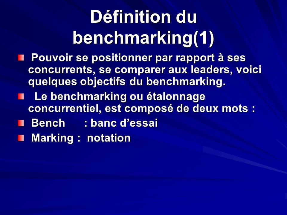 Définition du benchmarking(1)