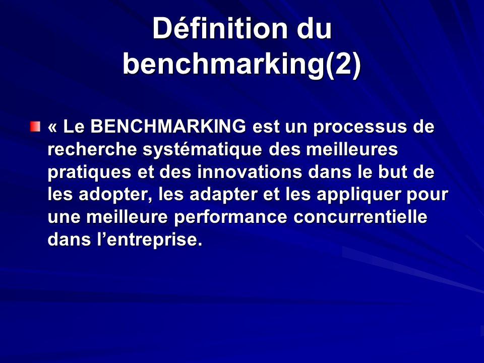 Définition du benchmarking(2)
