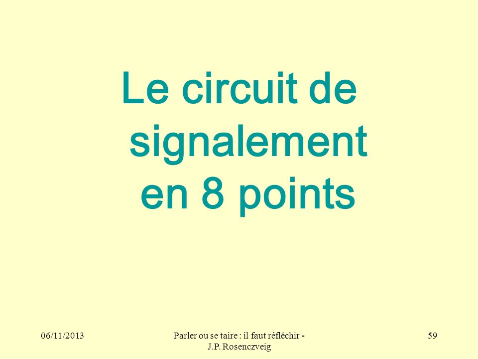 Le circuit de signalement en 8 points