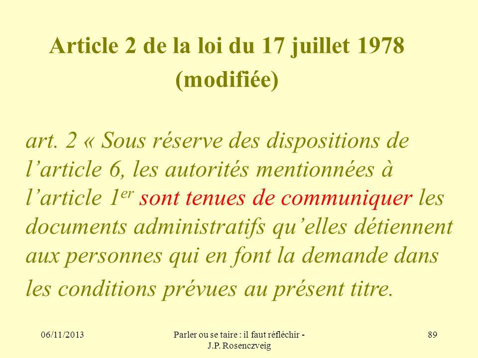 Article 2 de la loi du 17 juillet 1978 (modifiée)