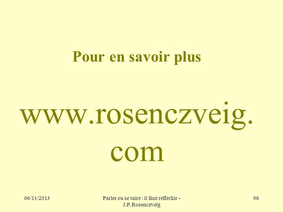 Pour en savoir plus www.rosenczveig.com