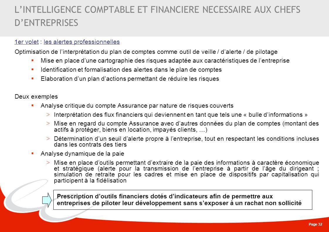 L'INTELLIGENCE COMPTABLE ET FINANCIERE NECESSAIRE AUX CHEFS D'ENTREPRISES