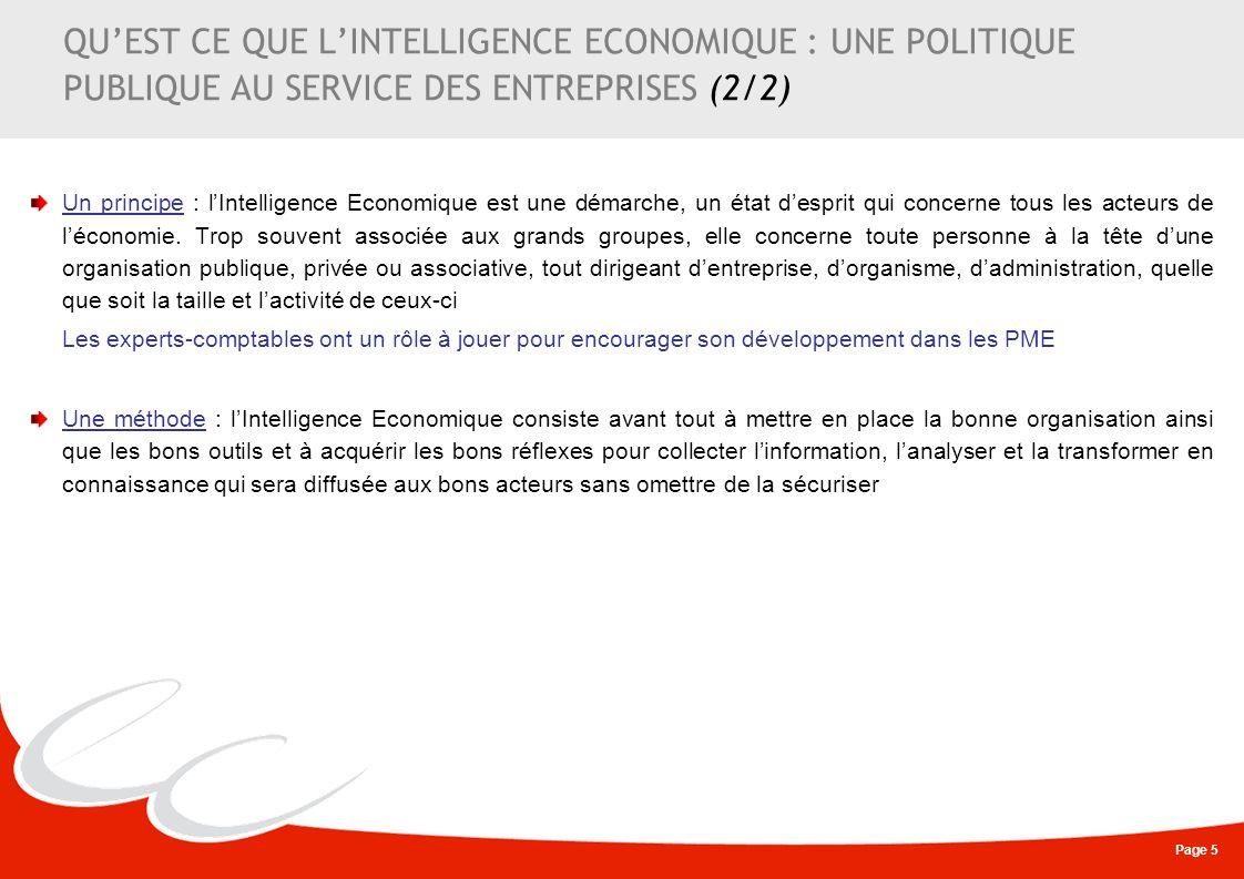 QU'EST CE QUE L'INTELLIGENCE ECONOMIQUE : UNE POLITIQUE PUBLIQUE AU SERVICE DES ENTREPRISES (2/2)