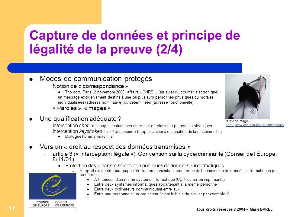 Capture de données et principe de légalité de la preuve (2/4)