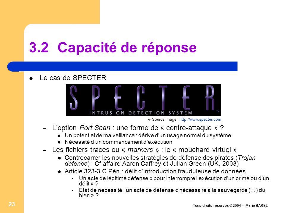 3.2 Capacité de réponse Le cas de SPECTER