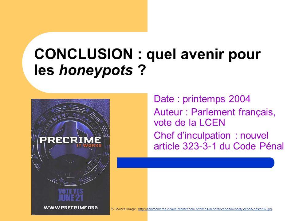 CONCLUSION : quel avenir pour les honeypots