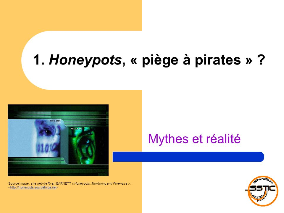 1. Honeypots, « piège à pirates »