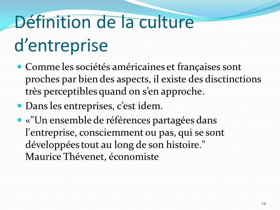Définition de la culture d'entreprise