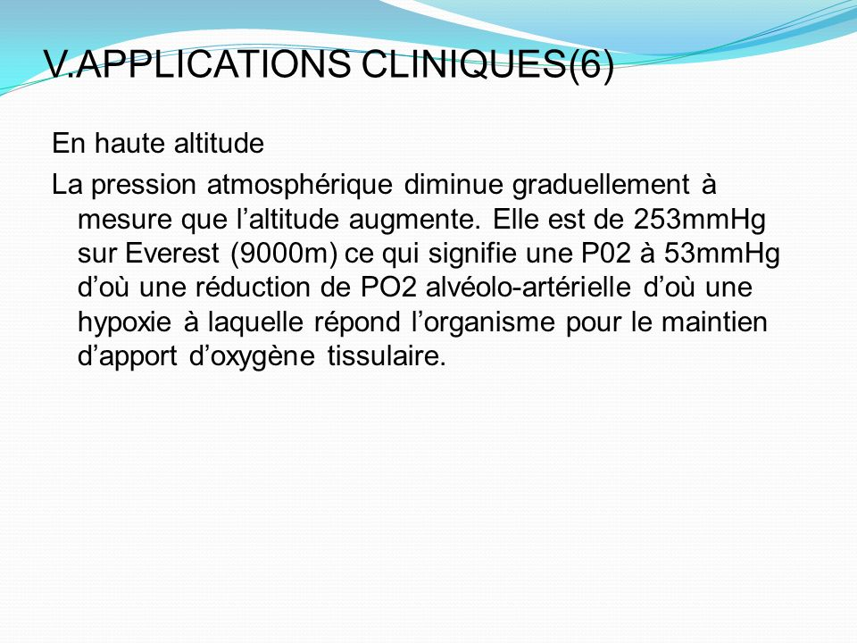 V.APPLICATIONS CLINIQUES(6)