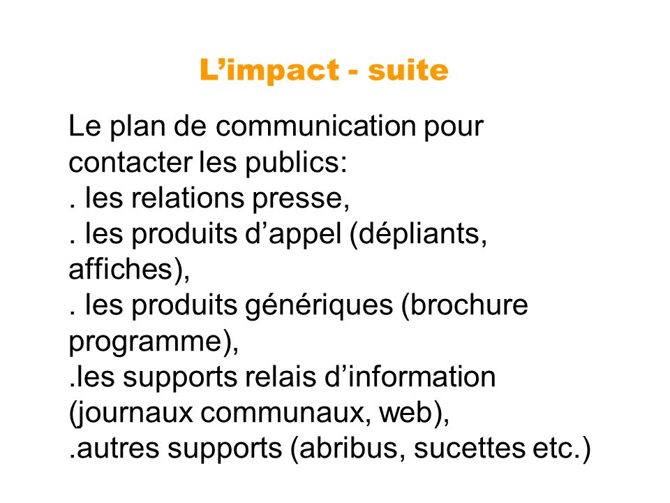 L'impact - suite