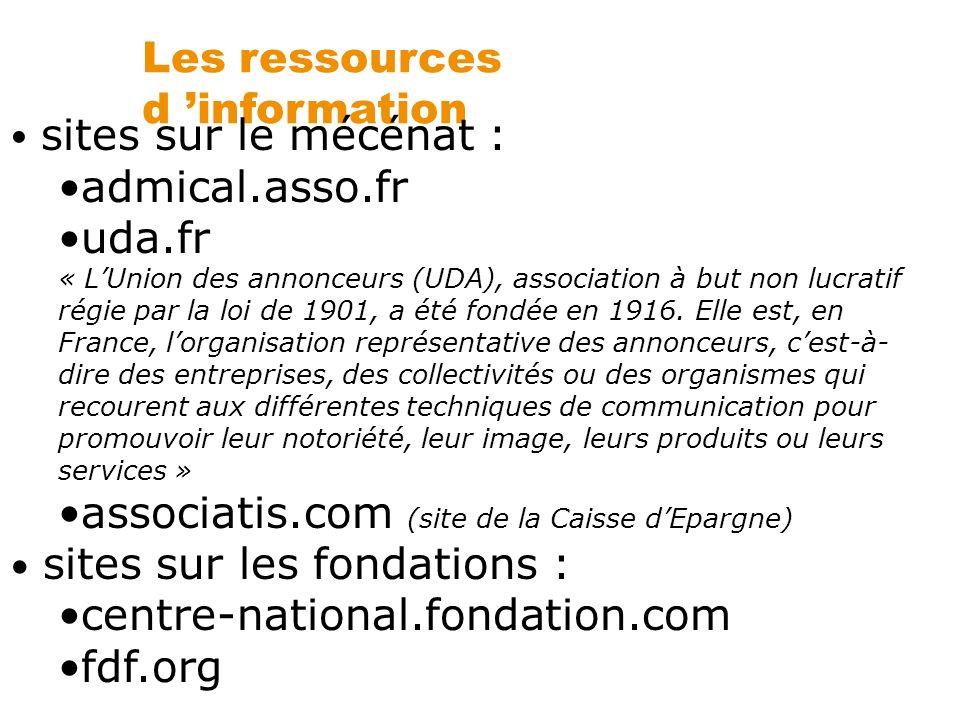 Les ressources d 'information