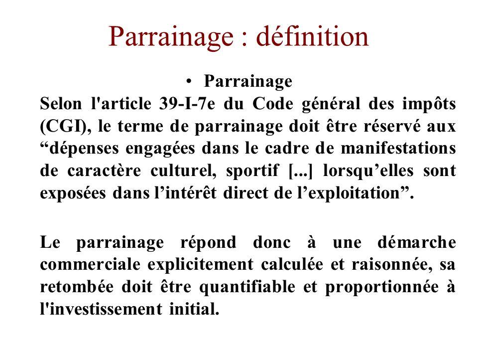 Parrainage : définition