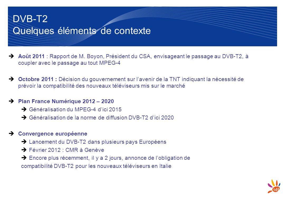 DVB-T2 Quelques éléments de contexte