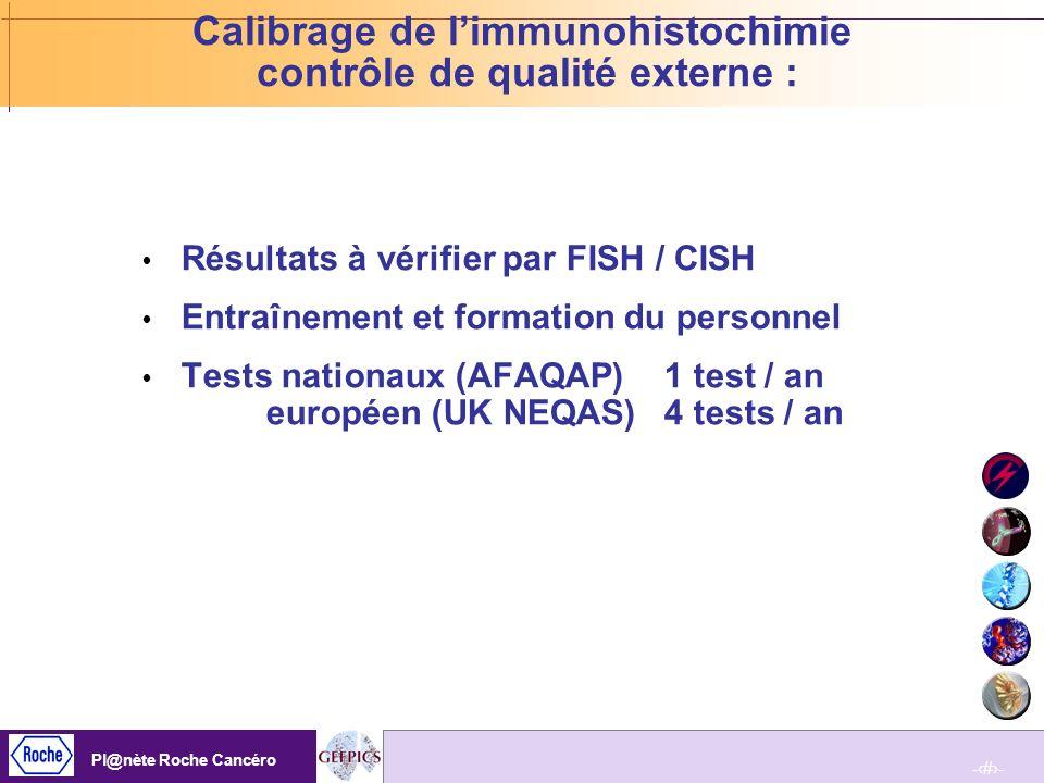 Calibrage de l'immunohistochimie contrôle de qualité externe :