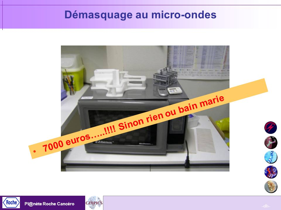 Démasquage au micro-ondes
